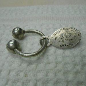 VTG Tiffany & Co Sterling Silver Key Ring & Charm